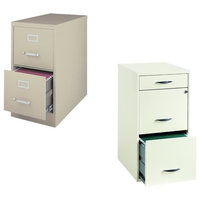 Value Pack (Set of 2) 2 Drawer File Cabinet in Putty and White