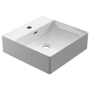 Modern Ceramic Vessel Bathroom Sink, 42 cm