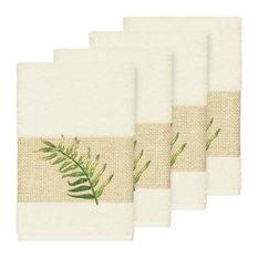 Zoe 4 Piece Embellished Hand Towel Set