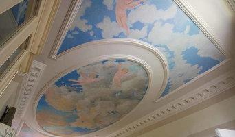 Ceiling sky mural