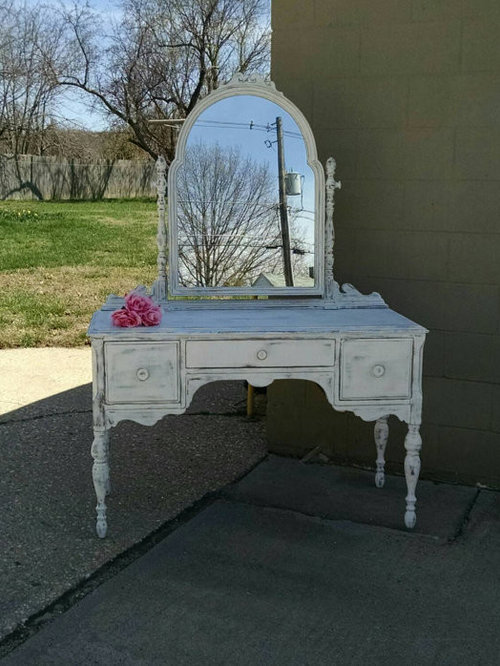 Vintage Mirrored Vanity Shabby Chic