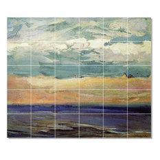 "Abram Arkhipov Waterfront Painting Ceramic Tile Mural #2, 36""x30"""