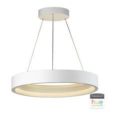 iCorona 1 Light Pendant in Matte White Finish by ET2 E35004-MW