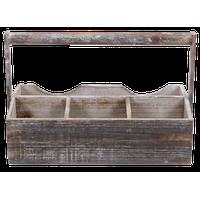 4-Slot Wooden Garden Caddy