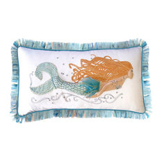 3D Applique Pearl of the Sea Mermaid Pillow