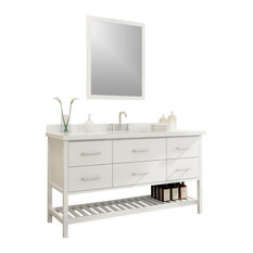 "Shakespeare 61"" Single Sink Vanity Set, White"