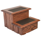 Step Stool With Non Slip Tread In Cherry