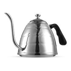 Coffee Kettle Teakettle Drip Pot Servers Stainless Steel Gooseneck   Coffee  And Tea Makers