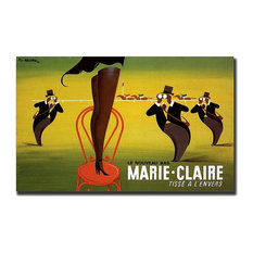 Le Nouveau Bas Marie-Claire by Pierre Fix-Masseau Canvas Art