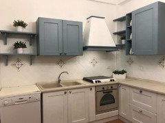 cucina bicolore bianca e tortora