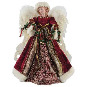 16 Santas Workshop 3032 Elegance Angel Tree Topper Silver