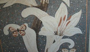 Mazzo di gigli a mosaico