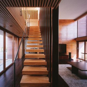 世田谷 木ルーバーの家