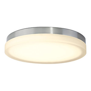 """GO Join LED 15W 12/"""" LED Flush Mount Ceiling Lighting Fixture,3000K Warm White,1150lm Dimmable Brushed Nickel Round Lighting Fixture,ES and ETL Certified"""
