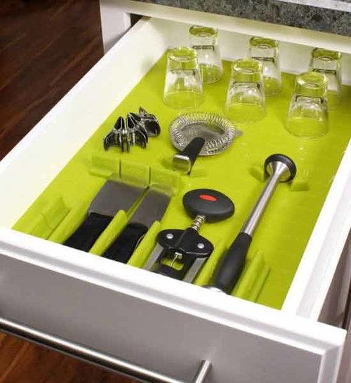 Dirty Kitchen Drawer: Silicone Drawer Organizers