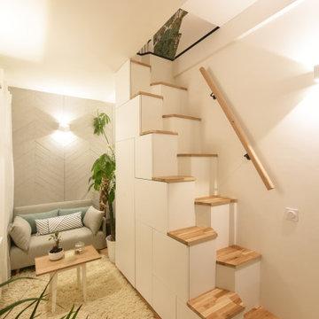 Rénovation complète d'une Maisonnette de 25m2 à Paris