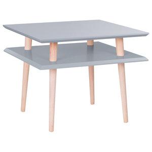 UFO Square Scandinavian Coffee Table, Dark Grey