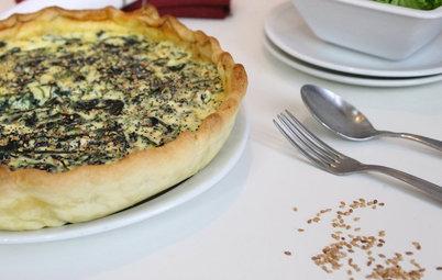 Aux fourneaux : Une tarte aux épinards et  fromage frais