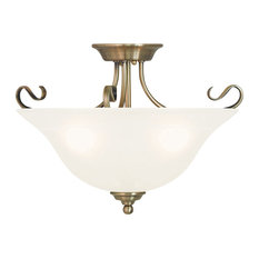 Coronado Ceiling Mount, Antique Brass