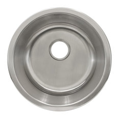 """Undermount Stainless Steel Single Bowl, Bar or Prep Sink L101, 18 1/4"""""""