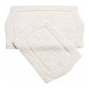 Waterford 2-Piece Bath Rug Set, White