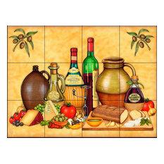 Tile Mural, Cucina Platter by Dan Morris