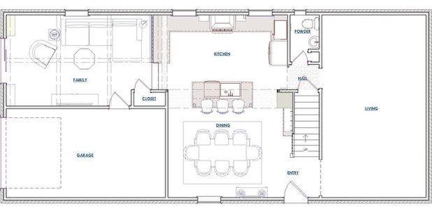 Transitional Floor Plan by Hurst Design Build Remodeling