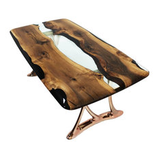 Naturalist Urbane 200 Epoxy Resin Dining Table With Sand Casted Aluminum Base