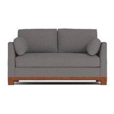 Avalon Apartment Size Sleeper Sofa, Memory Foam Mattress, Ash
