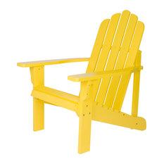 Marina Adirondack Chair, Lemon Yellow