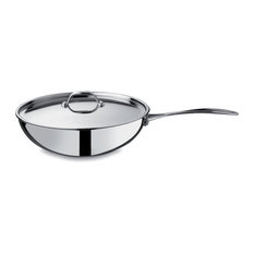 Wok With Lid cm 28 Glamour Stone