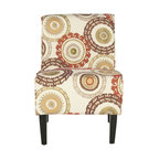 Madeline Beige Fabric Armchair Contemporary Armchairs