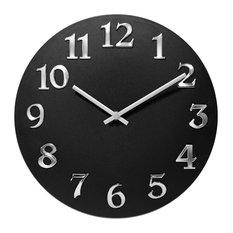 Infinity Instruments Vogue Black Wall Clock