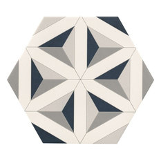 Contour Shadow Hexagon Tiles, 1 m2