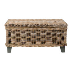 East At Main   East At Mainu0027s Hayward Brown Rectangular Rattan Coffee Table    Coffee Tables