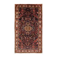 "New Authentic Persian Nahavand Wool Rug, 5'2""x9'5"""
