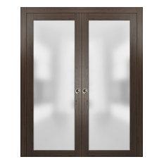Planum 2102 Interior Sliding Closet Double Pocket Doors 72x96 Chocolate Ash