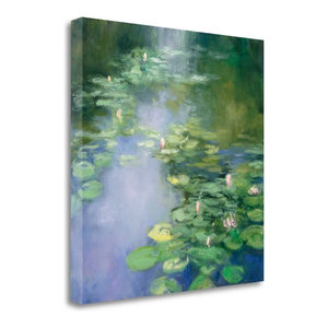 """Blue Lily II"" By Julia Purinton, Giclee Print on Gallery Wrap Canvas"