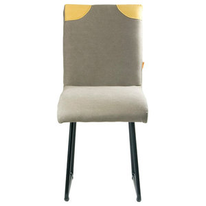 Upholstered Backrest Detail Chair, Taupe