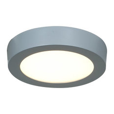 Access Lighting Strike Small Dimmable LED Round Flush Mount - Silver