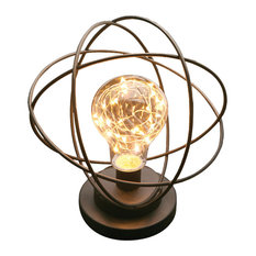 Table Lamp - Atomic Age LED Metal Accent Light
