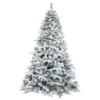 Deluxe Artificial Indoor Christmas Tree, 8', Snow Dusted
