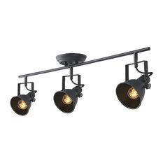 industrial track lighting systems. LNC - Adjustable Ceiling Lights, 3-Light Track Lamp, Black Finish Industrial Lighting Systems 5