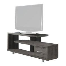 monarch unique style cappuccino hollow core 60 tv console living room furniture - Unique Tv Stands