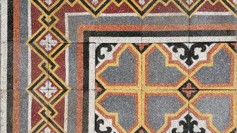Pavimenti di graniglia antica, mattonelle di graniglia primi '900