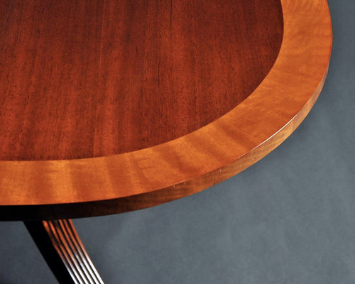 Mahogany Dining Table With Leaves And Double Pedestals AP - Dining table with 3 leaves