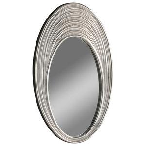 Contemporary Oval Wall Mirror, 71x109 cm