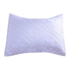 Fern Crystal Pillow Sham, White, Standard