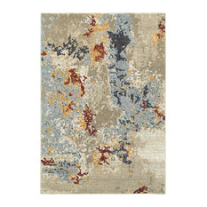 """Elements Marbled Patina Beige/Blue Area Rug, 8'6""""x11'7"""""""
