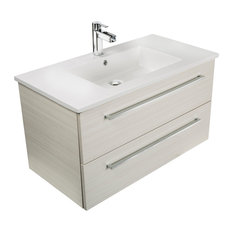 Great Cutler Kitchen U0026 Bath   Silhouette 2 Drawer Wall Mounted Vanity, White  Chocolate